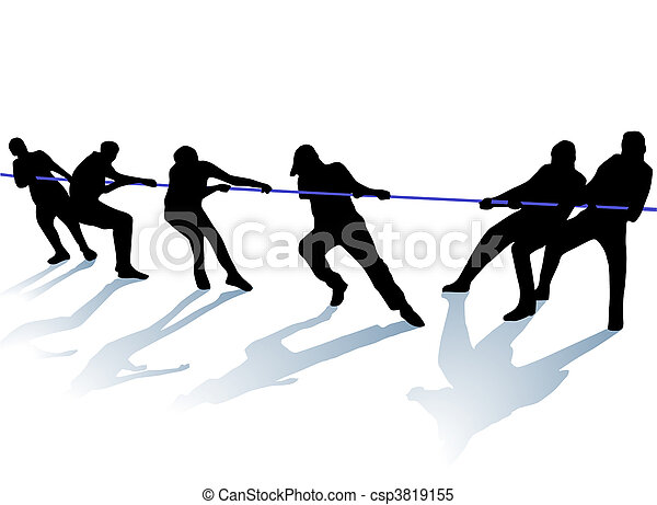 tug-of-war - csp3819155