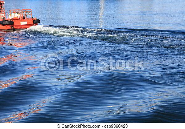 tugboat, tug on sea - csp9360423