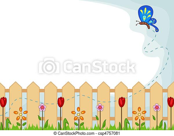 tuin, achtergrond - csp4757081