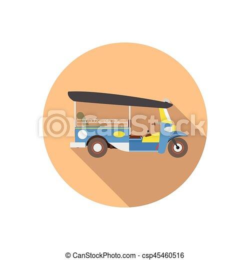 Tuk Tuk in Thailand. vector - csp45460516