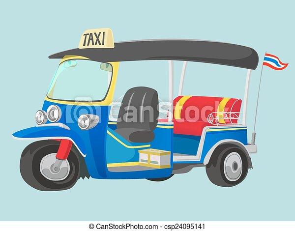 Taxi Tuk-Tuk Thailand - csp24095141