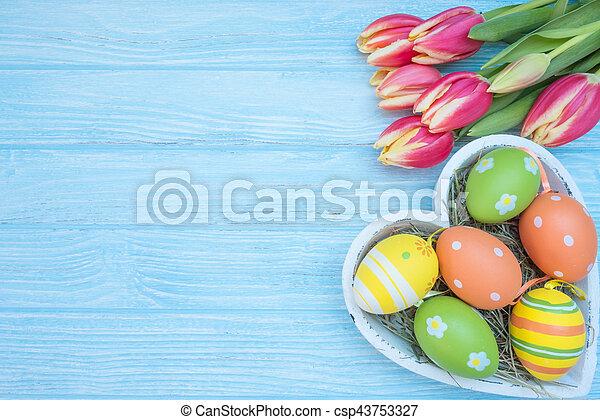 tulipánok, ikra, húsvét - csp43753327