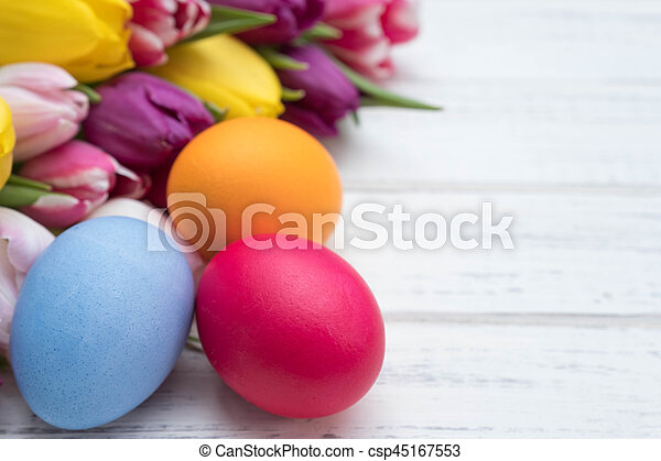 tulipánok, ikra, húsvét - csp45167553