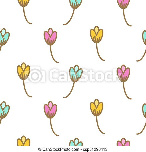 Tulip flowers pink floral art pattern seamless vector simple bright tulip flowers pink floral art pattern seamless vector simple bright colored flowers with gold outline for print on fabric mightylinksfo