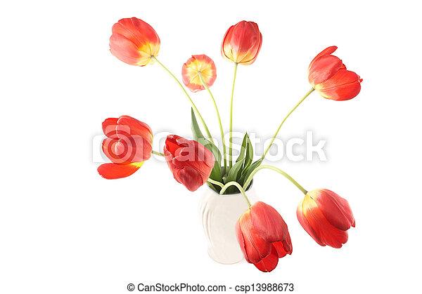 Tulips in a Vase - csp13988673