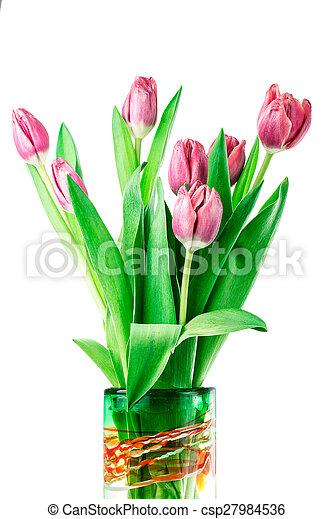 Tulips in a Vase - csp27984536