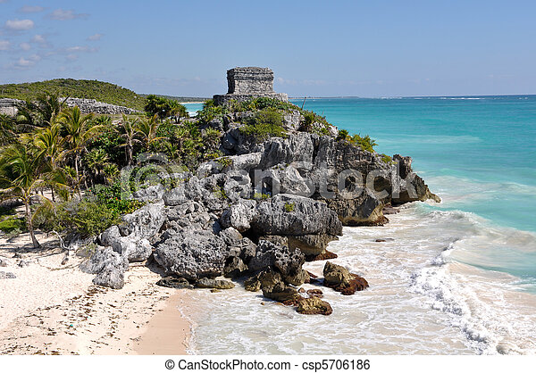 Tulum Mayan Ruins in Mexico - csp5706186