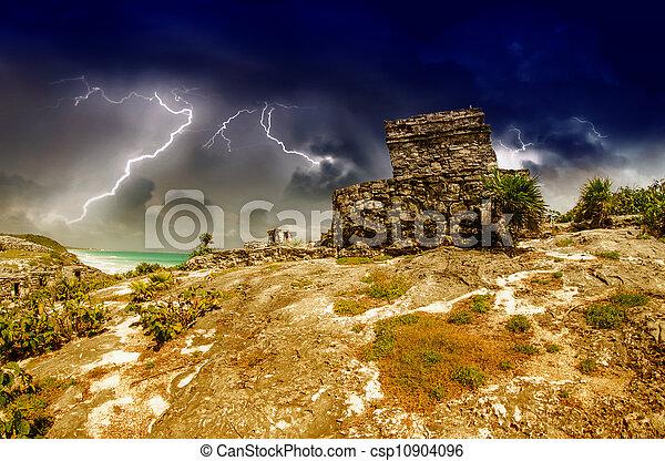 Tulum Mayan Ruins, Mexico - csp10904096