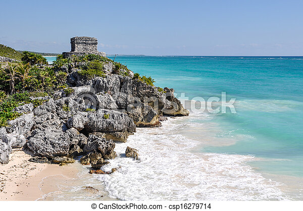Tulum Mayan Ruins - csp16279714