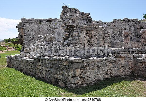 Tulum Mayan Ruins - csp7549708