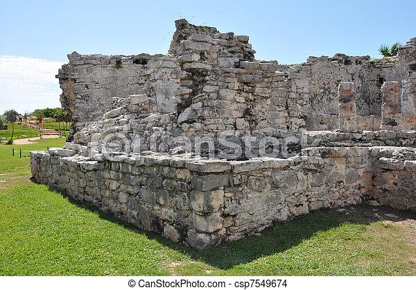 Tulum Mayan Ruins - csp7549674