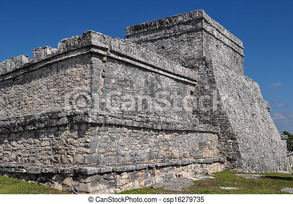 Tulum Mayan Ruins - csp16279735