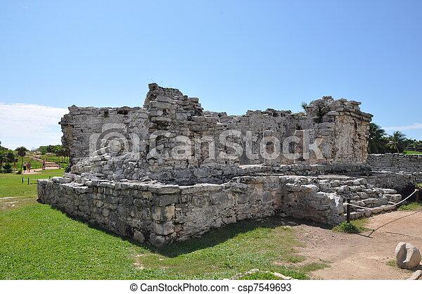 Tulum Mayan Ruins - csp7549693