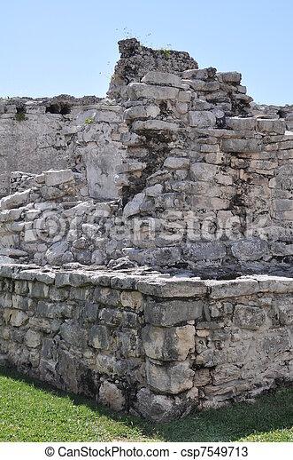 Tulum Mayan Ruins - csp7549713
