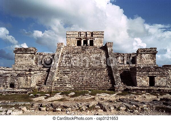 Tulum, Mayan temple - csp3121653