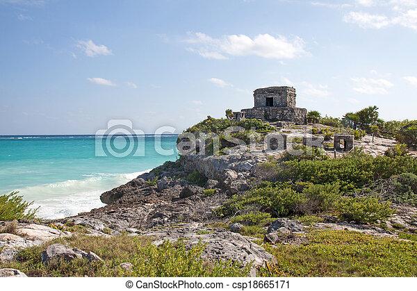 Tulum ruins, Mexico - csp18665171