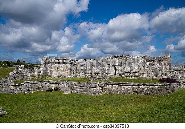 tulum ruins - csp34037513