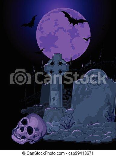 La tumba de Halloween - csp39413671