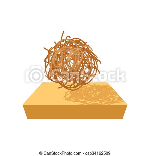 tumbleweed cartoon icon on a white background rh canstockphoto com Tumbleweeds the Play Clip Art tumbleweed clipart black and white