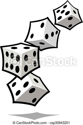tumbling white dice cartoon of four white dice tumbling vector rh canstockphoto com vector dice dice vector free