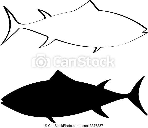 tuna fish silhouette vector illustration vector search clip art rh canstockphoto com fish silhouette vector free fish silhouette vector free