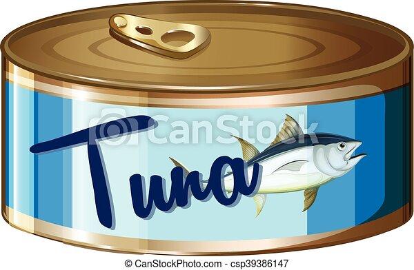 Tuna in aluminum can - csp39386147