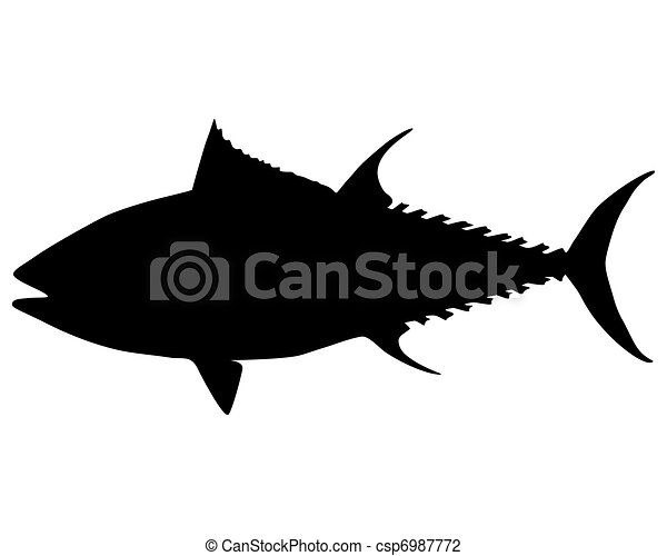 Tuna silhouette - csp6987772