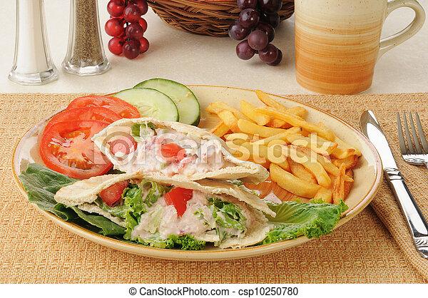 Tunafish pita sandwich - csp10250780
