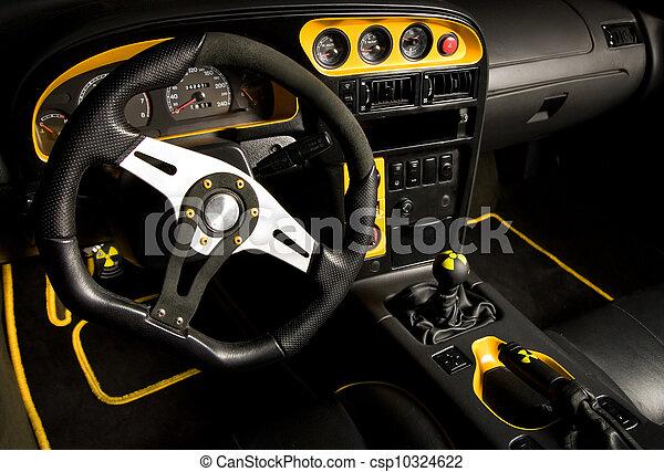 Tuned sport car interior - csp10324622