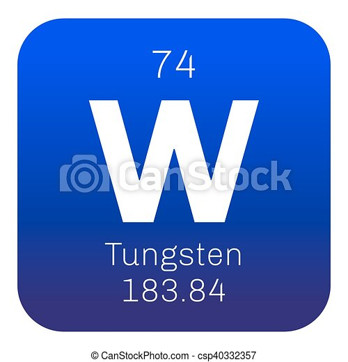 Tungsten chemical element also known as wolfram colored tungsten chemical element vector urtaz Choice Image