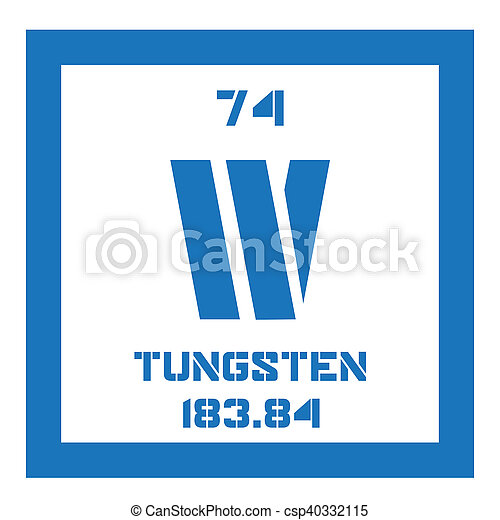 Tungsten Chemical Element Also Known As Wolfram Colored Stock