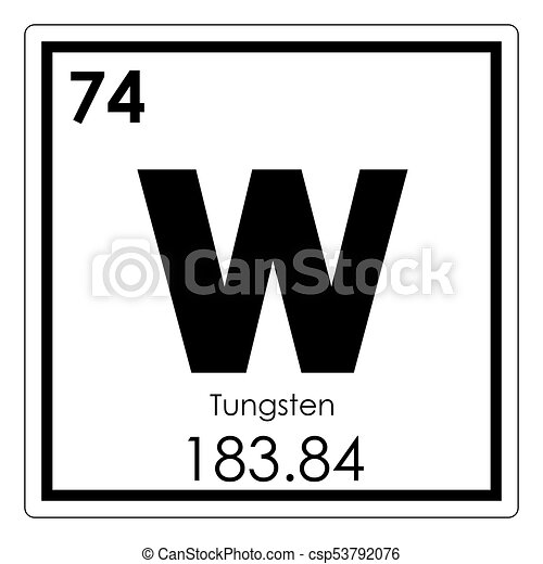 Tungsten chemical element periodic table science symbol stock tungsten chemical element stock illustration urtaz Choice Image