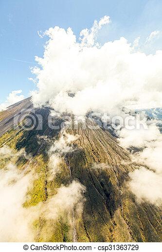 Tungurahua Volcano Aerial Shot - csp31363729
