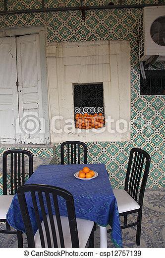tunisia., kawiarnia, el-jem, medyna - csp12757139