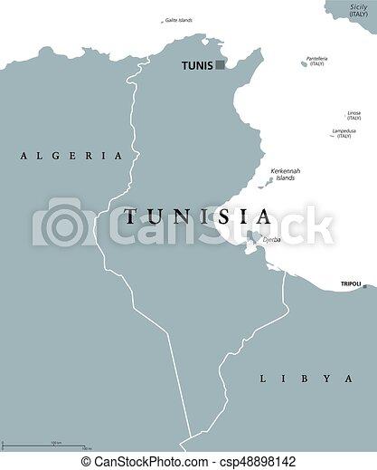 Tunisia North Africa Map.Tunisia Political Map