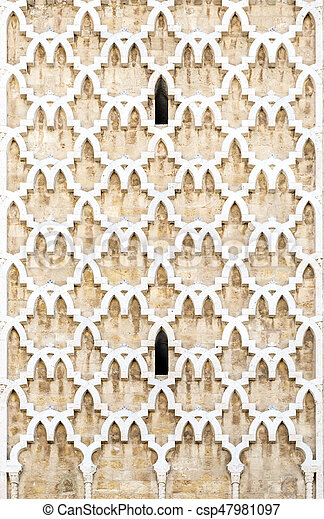Tunisian Architecture Pattern Detail From The Minaret Tunis Tunisia Tunisian Architecture Pattern Detail From The
