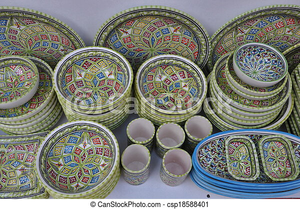 Tunisian Pottery - csp18588401 & Tunisian pottery stock photography - Search Pictures and Photo ...