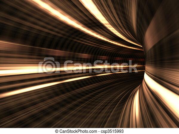 tunnel, begriff, geschwindigkeit, /, verwischen - csp3515993