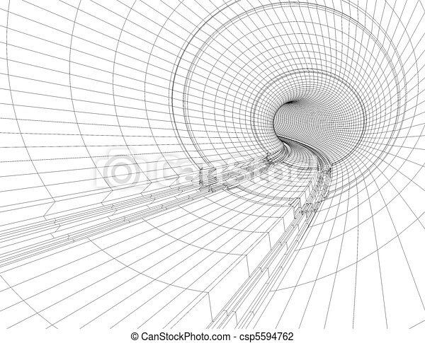 Illustration of drawings of a tunnel blueprint tunnel blueprint csp5594762 malvernweather Choice Image