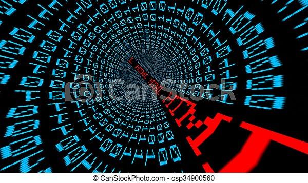 tunnel, html, données - csp34900560