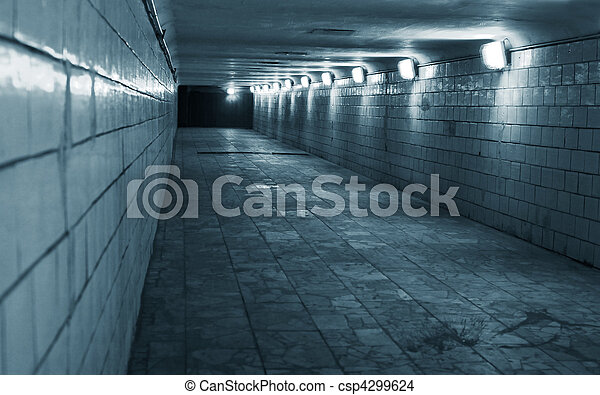 Tunnel in a urban city - csp4299624