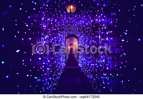 Tunnel light in Christmas day - csp64172545