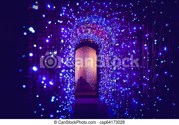 Tunnel light in Christmas day - csp64173028