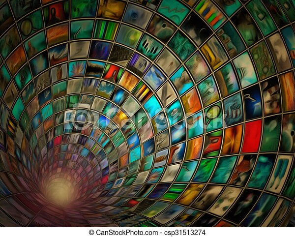 Tunnel of images - csp31513274
