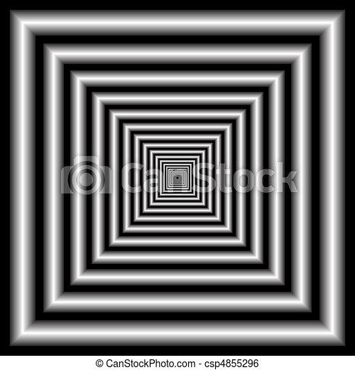 tunnel. optical illusion - csp4855296