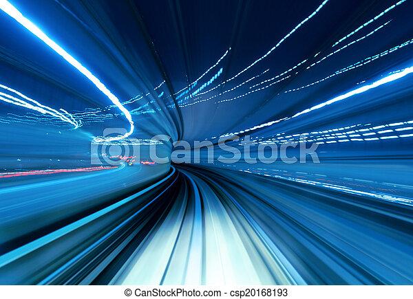 tunnel, trein, verhuizing, vasten - csp20168193