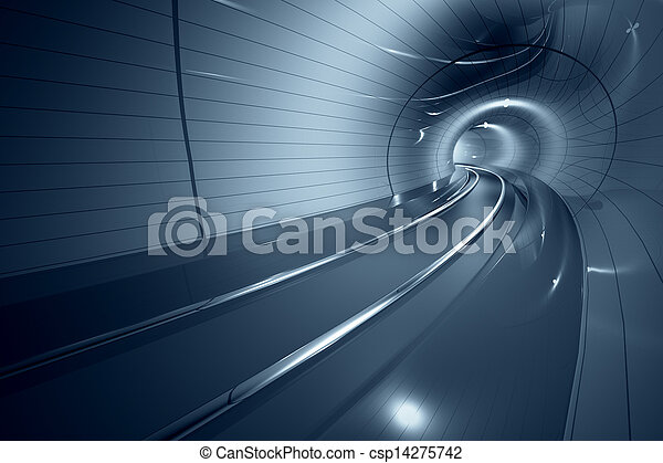 Futuristischer Metrotunnel. - csp14275742