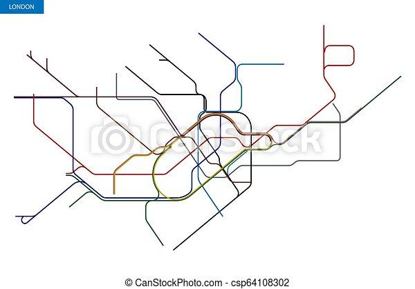 Tunnelbana Karta London Tunnelbana Karta Genomresa London