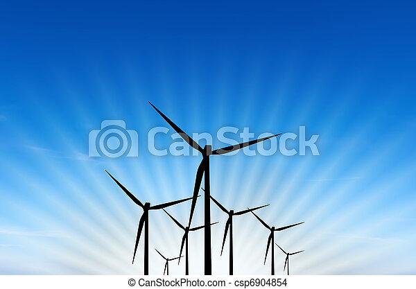 turbina, energia, vento - csp6904854