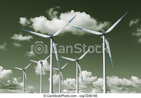 turbina, energia, vento - csp7246165